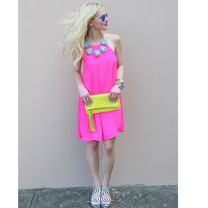 NWT AMANDA UPRICHARD HOT NEON PINK DRESS